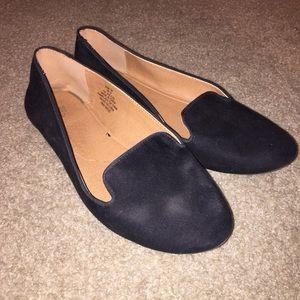 Shoes | Black Slide On Loafers